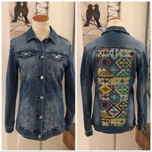 LuLaRoe Jaxon Aztec-Inspired Denim Jacket